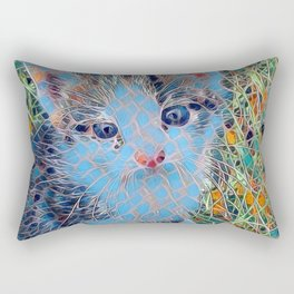 Mosaic - Kitten Rectangular Pillow