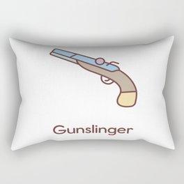 Cute Dungeons and Dragons Gunslinger class Rectangular Pillow