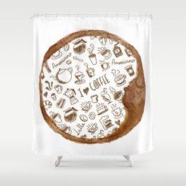 Inside an imprint of Coffee - I love Coffee Shower Curtain