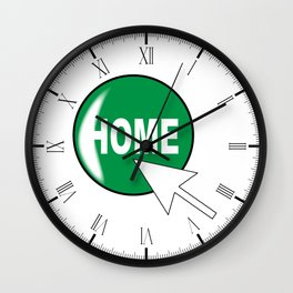 Computer Icon Home Wall Clock