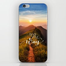 Find your way iPhone & iPod Skin