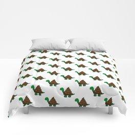 Turdle - Poop - Turtle - 57 Montgomery Art Comforters