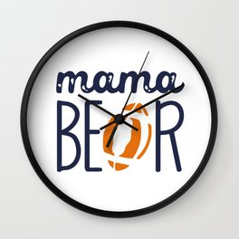 LIMITED EDITION - FOOTBALL MAMA BEAR Wall Clock