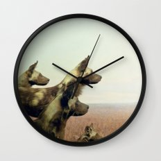 Hi, we are the wild dogs Wall Clock