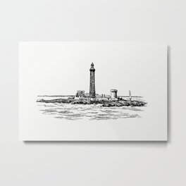Lighthouse in Marseille from The Rivers of France The Rhone Book Decorated With 168 Drawings by A Ch Metal Print