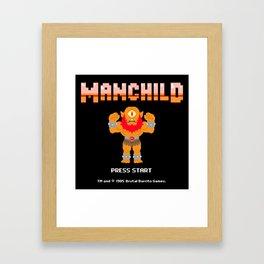 8Bit Manchild Framed Art Print