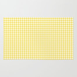 Yellow Houndstooth Pattern Rug
