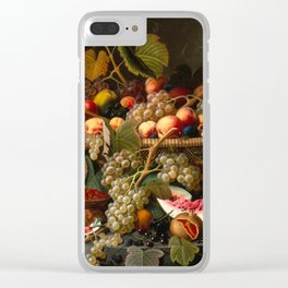 Severin Roesen - Still Life with Fruit, 1852 Clear iPhone Case