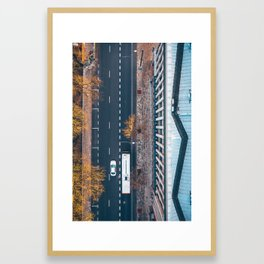 Street view, Kaunas, Lithuania Framed Art Print