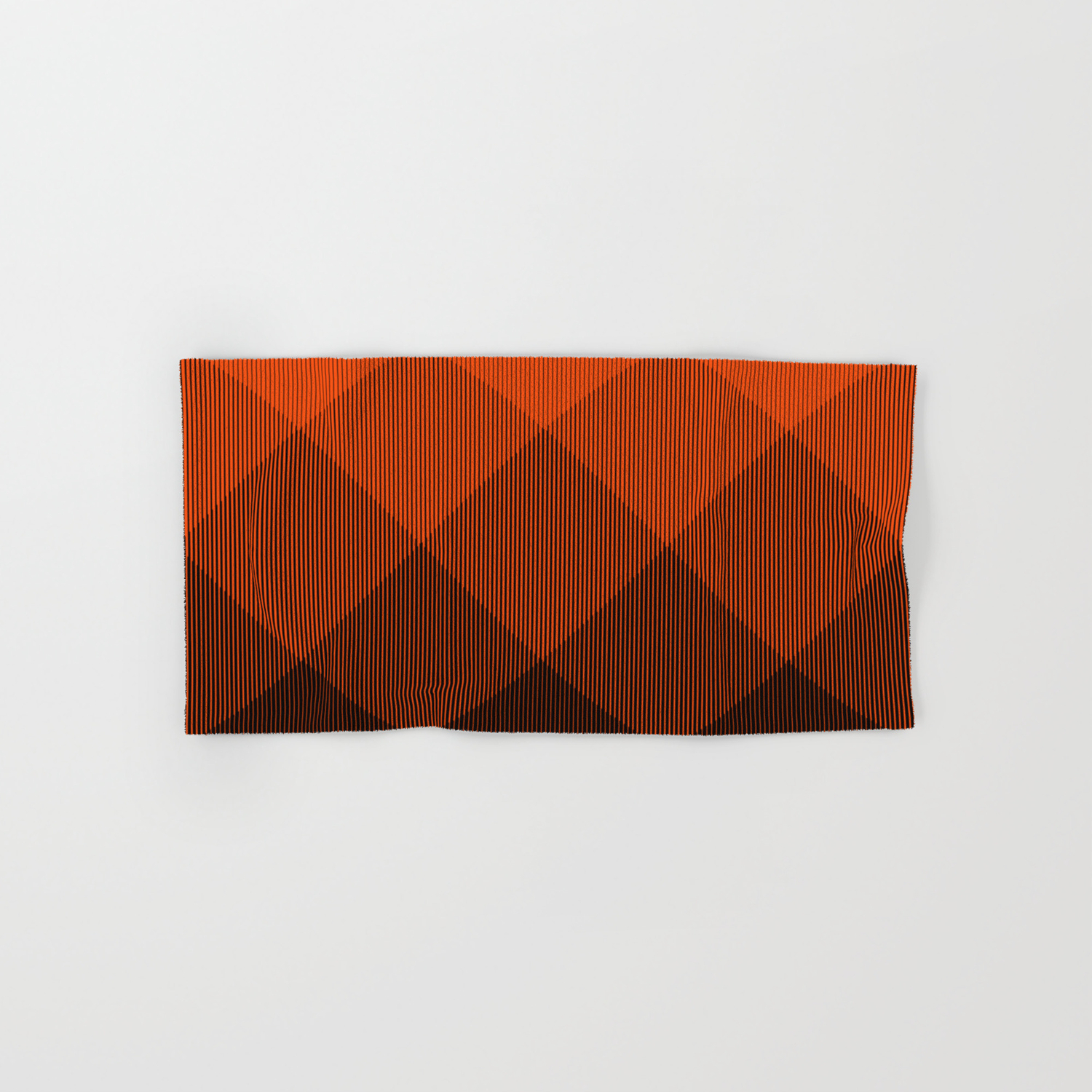Orange To Black Ombre Signal Hand Bath Towel By Anjchang Society6