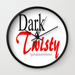 Dark and Twisty  Wall Clock