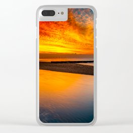 Old Lighthouse Sunset Clear iPhone Case