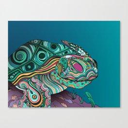 Zen Turtle Bohemian Patterns Canvas Print