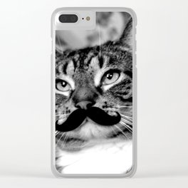 He's a Cat with a Mustache Clear iPhone Case