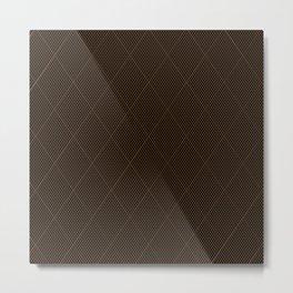 Nylon Stocking Fishnet Grid Metal Print