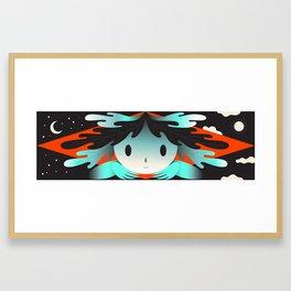 leafy boy Framed Art Print