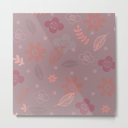 Pattern Autumn Metal Print