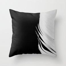 White Feather Throw Pillow