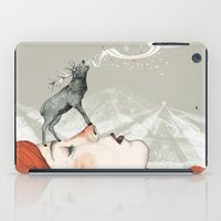 lady iPad Cases featuring Deer Lady! by Sandra Dieckmann