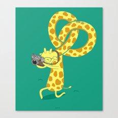 A Giraffe Photographer Canvas Print