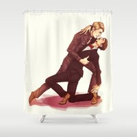 dancing Shower Curtains featuring DANCING by FISHNONES