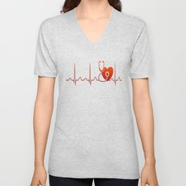 DOCTOR HEARTBEAT Unisex V-Neck