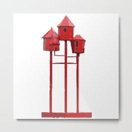 Red Bird House. Amsterdam Metal Print