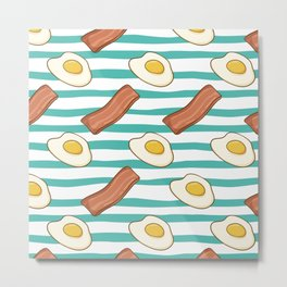 Fried Eggs and Bacon Metal Print