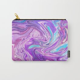 Psychedelic Abstract Swirl (Pink, Blue, Purple) Carry-All Pouch