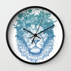 Floral lion Wall Clock