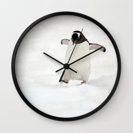 Gentoo Penguin on a Fishing Expedition Wall Clock