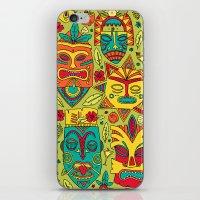 tiki iPhone & iPod Skins featuring Tiki tiki by Binnyboo