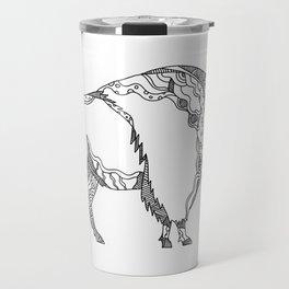 American Buffalo Doodle Art Travel Mug