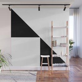 GLITCHY (BLACK-WHITE) Wall Mural