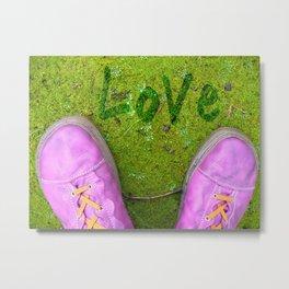 Vegetal Garden and Pink Shoes Metal Print