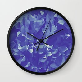 Blue Crystals Wall Clock