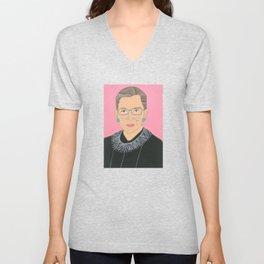 Ruth Bader Ginsberg Unisex V-Neck