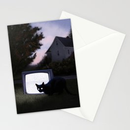 Black Static Stationery Cards