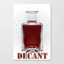 Decant Canvas Print