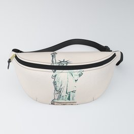 ArtWork New York Statue Liberty USA Painting Fanny Pack
