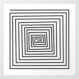 design black and white Art Print