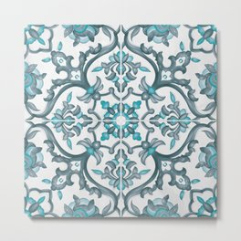 European tiles Metal Print