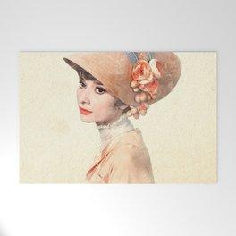 Audrey Hepburn - Eliza Doolittle - Watercolor Welcome Mat