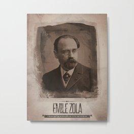 Emile Zola Metal Print