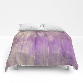 White Brush Strokes Comforters
