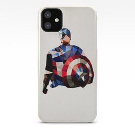 Polygon Heroes - Captain America iPhone Case