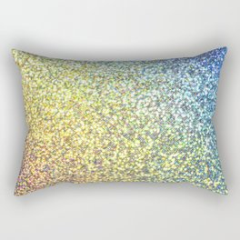 Blue & Gold Glitter Ombre Rectangular Pillow