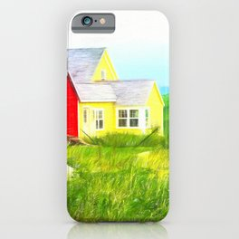 Peggy's Cove village in Nova Scotia, Canada iPhone Case