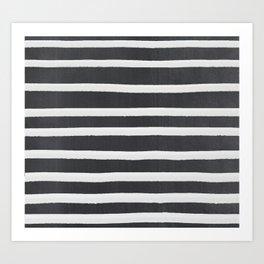 White Paint Stripes on Concrete Art Print