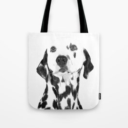 Black and White Dalmatian Tote Bag